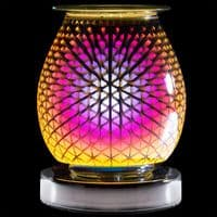 Touch Sensitive Round Electric Wax Melt Burner - Triangles   Bonnebombe